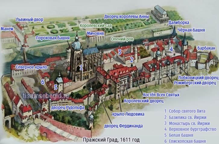 План Пражского Града, 1611 год