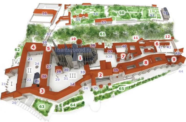 План крепости Пражский Град